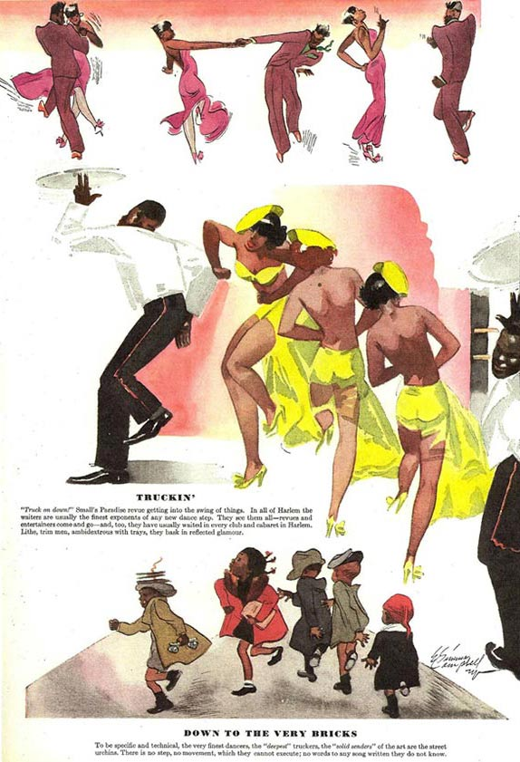 """""""Esquire"""" illustration by the pioneering African-American illustrator E. Simms Campbell."""