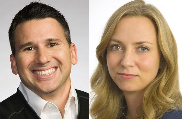 Rich Magallanes (left) and Jenna Boyd were two of Nick Animation's execs who were laid off last Friday.
