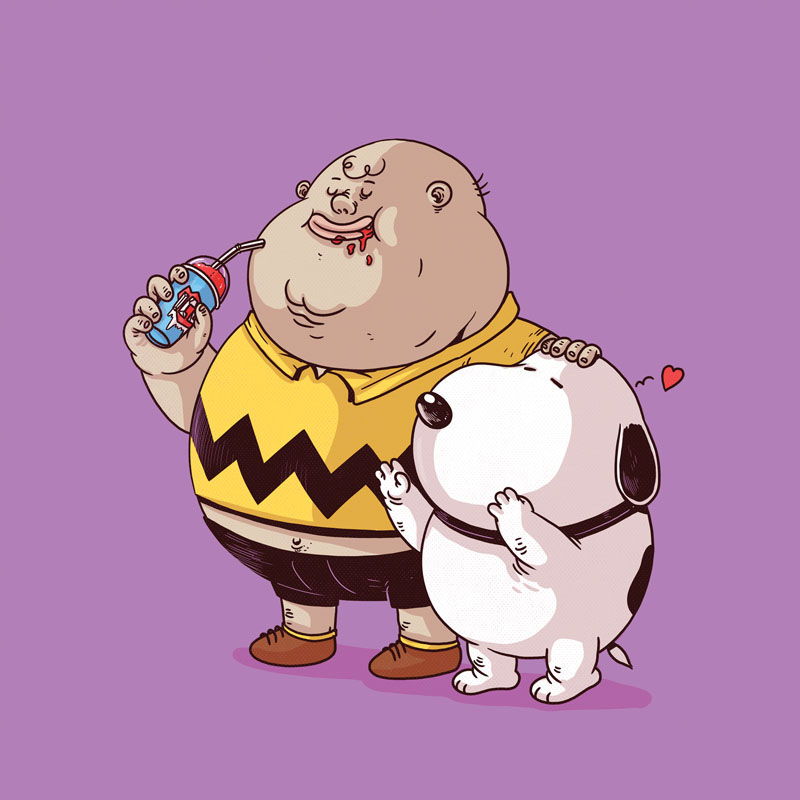 Charlie Brown and Snoopy (Click to enlarge.)