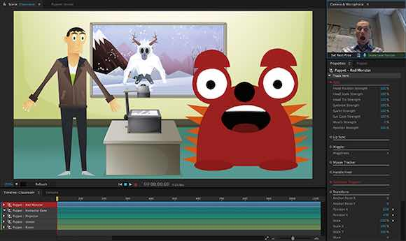 Adobe Character Animator Lets You Animate With Your Face