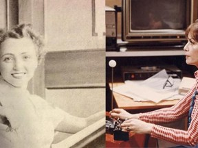Animators Lillian Friedman Astor (left) and Lillian Schwartz (right).