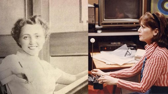 Animators Lillian Friedman Astor (left) and Lillian Schwartz (right).