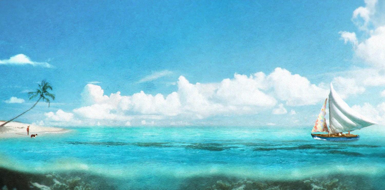 """Kensuke's Kingdom"" concept artwork. (Courtesy of the filmmakers. Click to enlarge.)"
