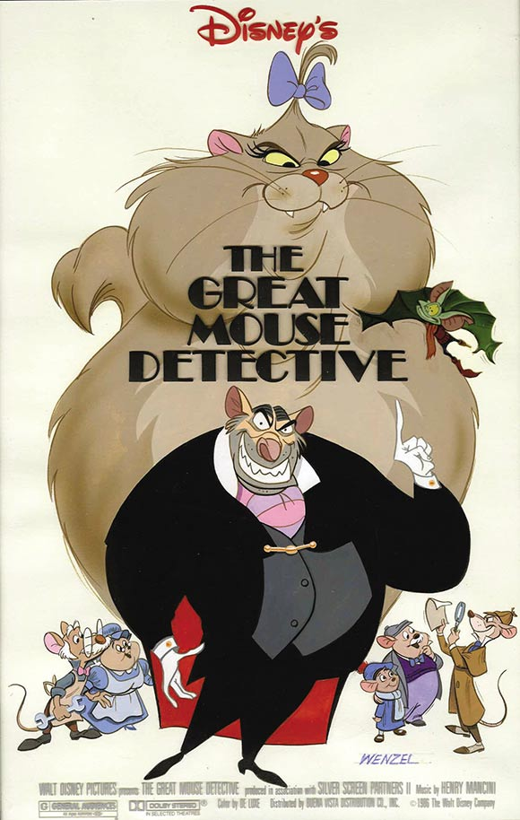 """The Great Mouse Detective"" poster concept illustration by Paul Wenzel"