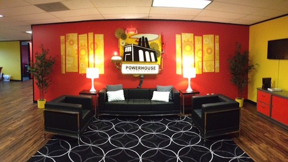 Powerhouse Animation Studio's new lobby.