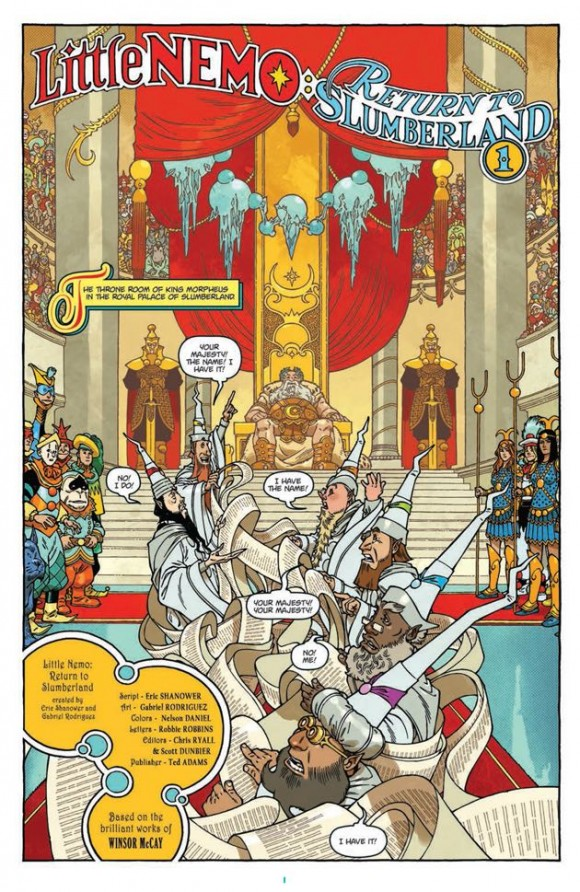 Page 1 of 'Return to Slumberland,' issue #1. Click to enlarge.