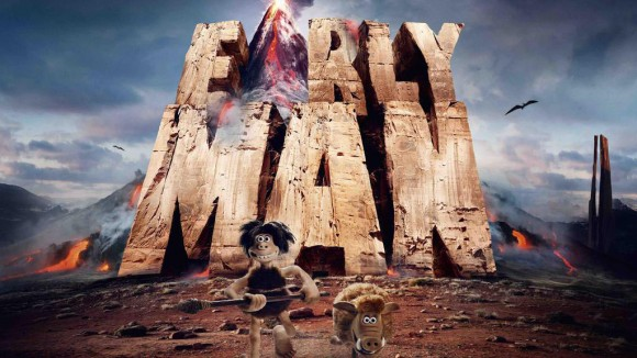 "The first image from Nick Park's next feature ""Early Man."""