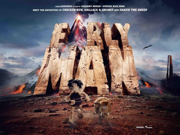 """The first image from Nick Park's next feature """"Early Man."""""""