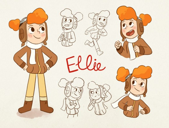 """Ellie the Ace"" concept. Click to enlarge.  (©Cartoon Saloon)"