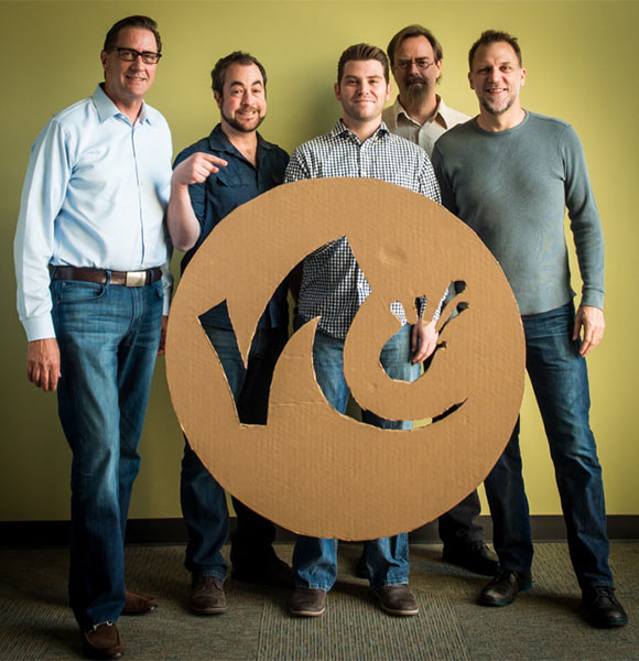 Nimble founders (l. to r.) Michael Howse, Jason Schleifer, Scott LaFleur, Bruce Wilson, and Rex Grignon.