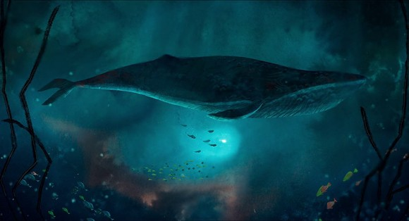 """This whale in Cartoon Saloon's """"Song of the Sea"""" was animated using Anime Studio Pro. (Click to enlarge.)"""