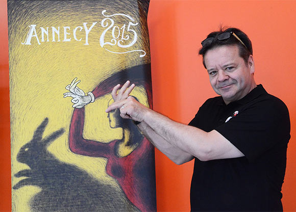 Marcel Jean, the artistic director of the Annecy animation festival. (© S. Matter/CITIA)