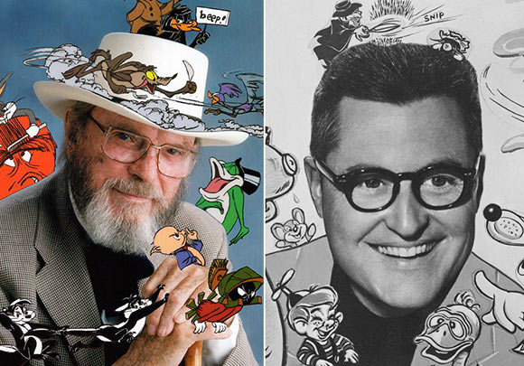 Chuck Jones (left) and Bob Clampett