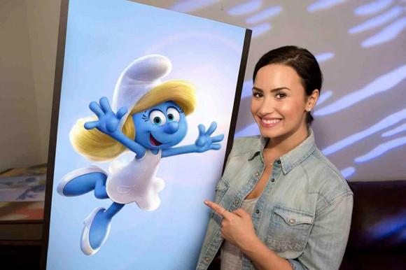Demi Lovato as Smurfette.