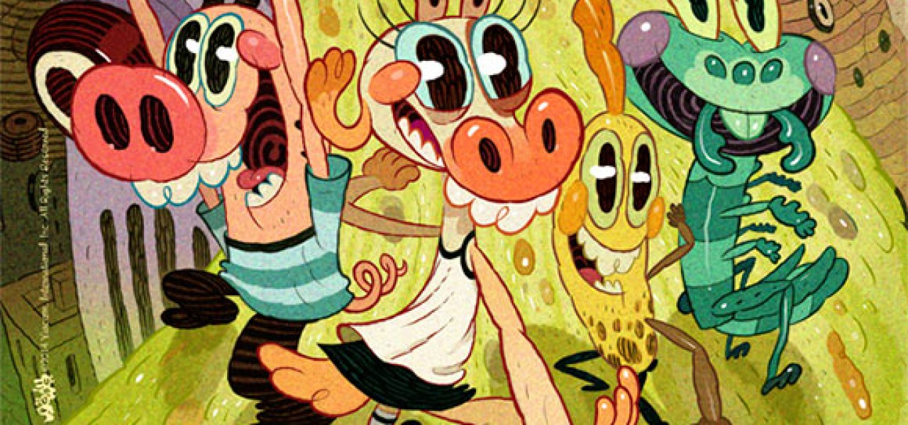 Nick S Pig Goat Banana Cricket Brings Adult Comics To Kids Tv