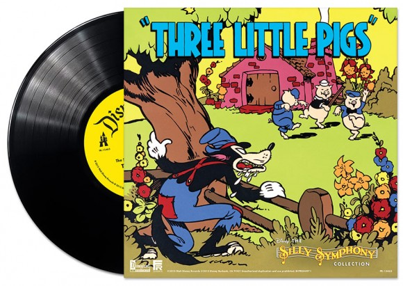 """Pre-orders will also receive a special 10"""" single featuring the complete soundtracks to """"Three Little Pigs"""" and """"The Skeleton Dance."""" (Click to enlarge.)"""