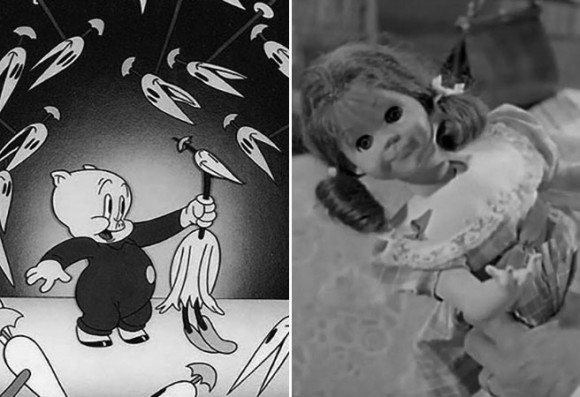 """In his book, Kemper connects """"Toy Story"""" to earlier creative works like Bob Clampett's short """"Porky in Wackyland"""" (left) and """"The Twilight Zone."""""""