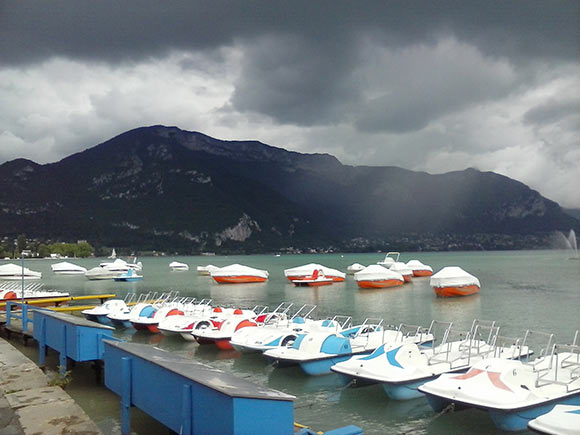 Lakeside at Annecy. (Photo by Tess Martin.)