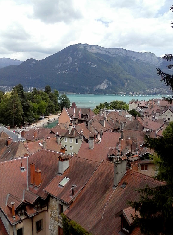 A view of Annecy from the castle. (Photo by Tess Martin.)