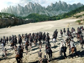 "Cinesite provided visual effects for a major battle sequence in the 2014 feaure ""Hercules."""