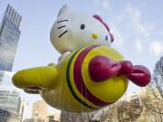 Hello Kitty balloon flying in New York City during the 2013 Macy's Thanksgiving Day Parade. (Photo: Scott Cornell/Shutterstock.com)
