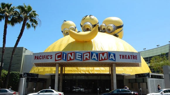 Minions take over a classic Hollywood movie theater. (Photo via Daily Billboard.)