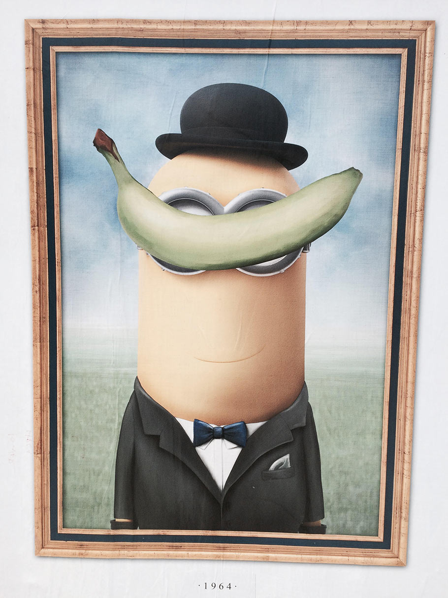 Minion meets Magritte. (Click to enlarge.)