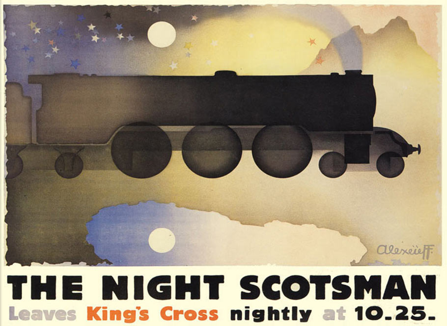 The Night Scotsman poster by Alexandre Alexeieff. (Click to enlarge.)