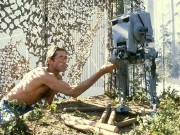 "ILM artist Paul Huston animating an AT-ST model from ""Return of the Jedi."""