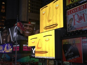 """Parallel Connection"" is currently screening on 45 screens in Times Square. (Photo: Angelo Dal Bó)"