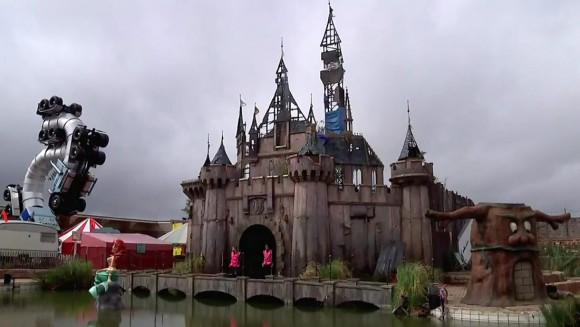 Dismaland's castle is dismal. (Click to enlarge.)