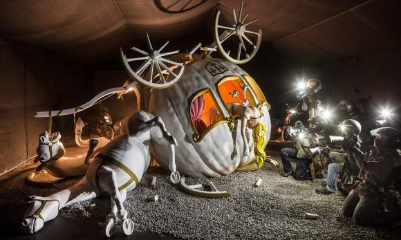 "The ""Cinderella"" crash scene includes paparazzi. (Photo: David Levene/""The Guardian"")"
