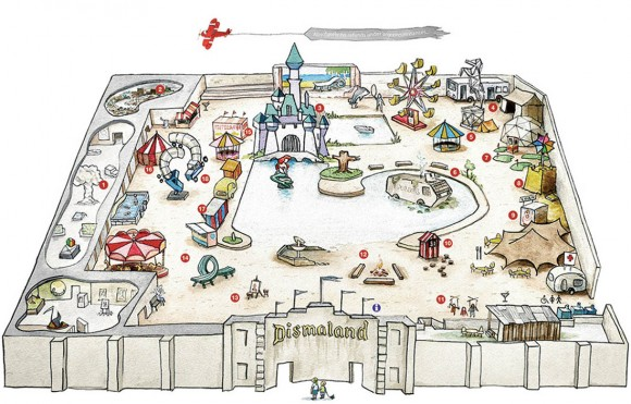 Dismaland map. (Click to enlarge.)