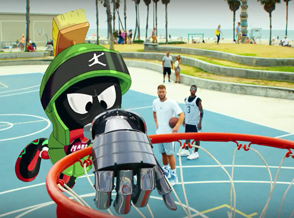 nike s new marvin the martian spot is all action no comedy