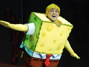 """Nickelodeon has previously presented the play """"SpongeBob SquarePants: The Sponge Who Could Fly"""" (pictured above) throughout Asia, Australia, and South Africa."""