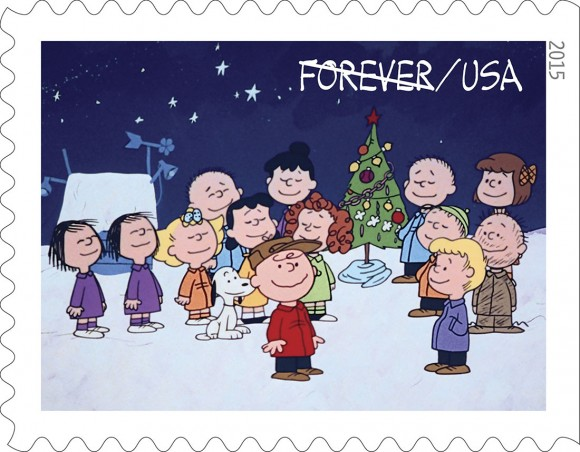 See the New 50th Anniversary 'Charlie Brown Christmas' Stamps