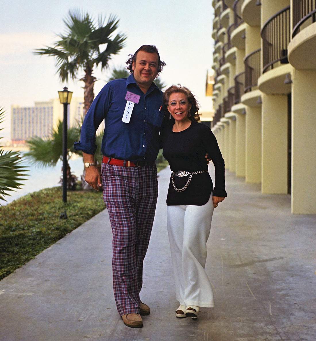 June Foray with Shel Dorf, founder of the San Diego Comic-Con, 1973.