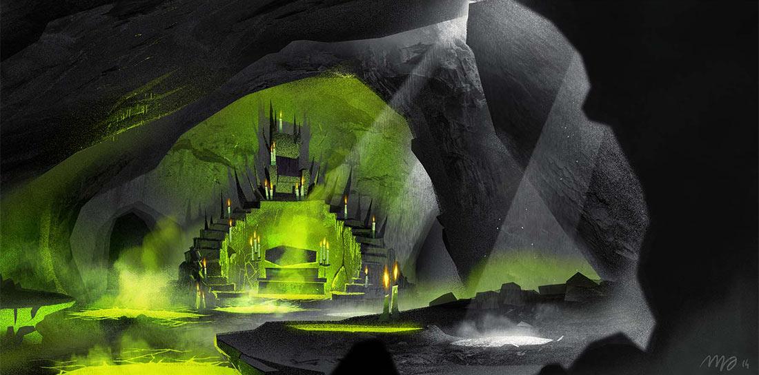 Vlad's lair concept by Sylvain Marc.