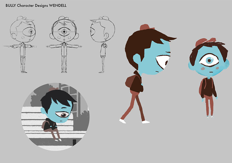 "Character design for ""I Am A Witness"" by Jake Wyatt."