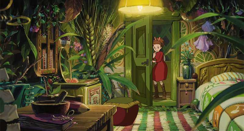 """The Secret World of Arrietty"" was the first feature that Yonebayashi directed at Studio Ghibli."