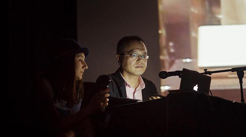Koji Yamamura presents a masterclass at Anim'est. (Photo: Ionut Dobre)