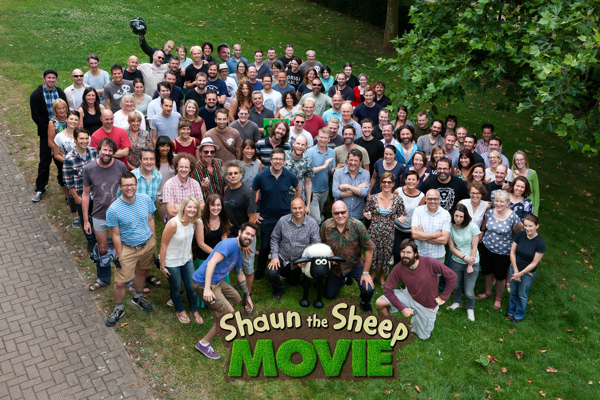 A photo of the movie's crew. Click to enlarge. (Photo: Chris Johnson)