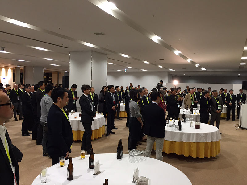 Opening reception attended by airport officials and Hokkaido politicians.