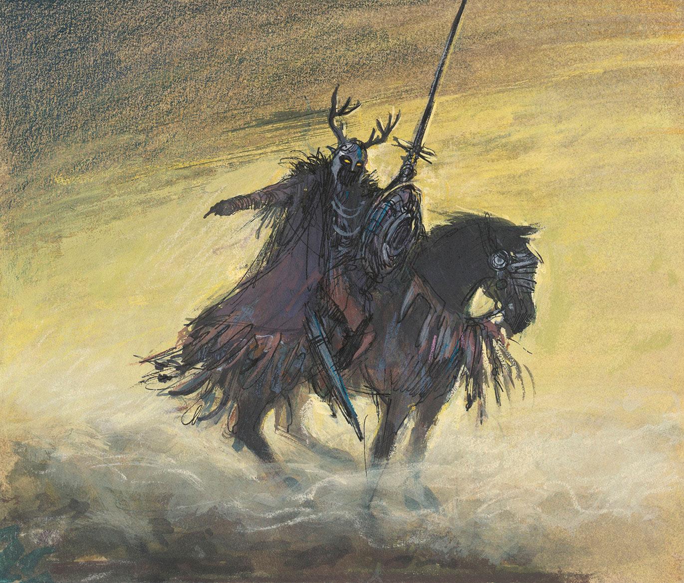 "Mel Shaw, concept art for ""The Black Cauldron,"" c. 1985. (Image: Courtesy The Walt Disney Animation Research Library, © Disney.)"