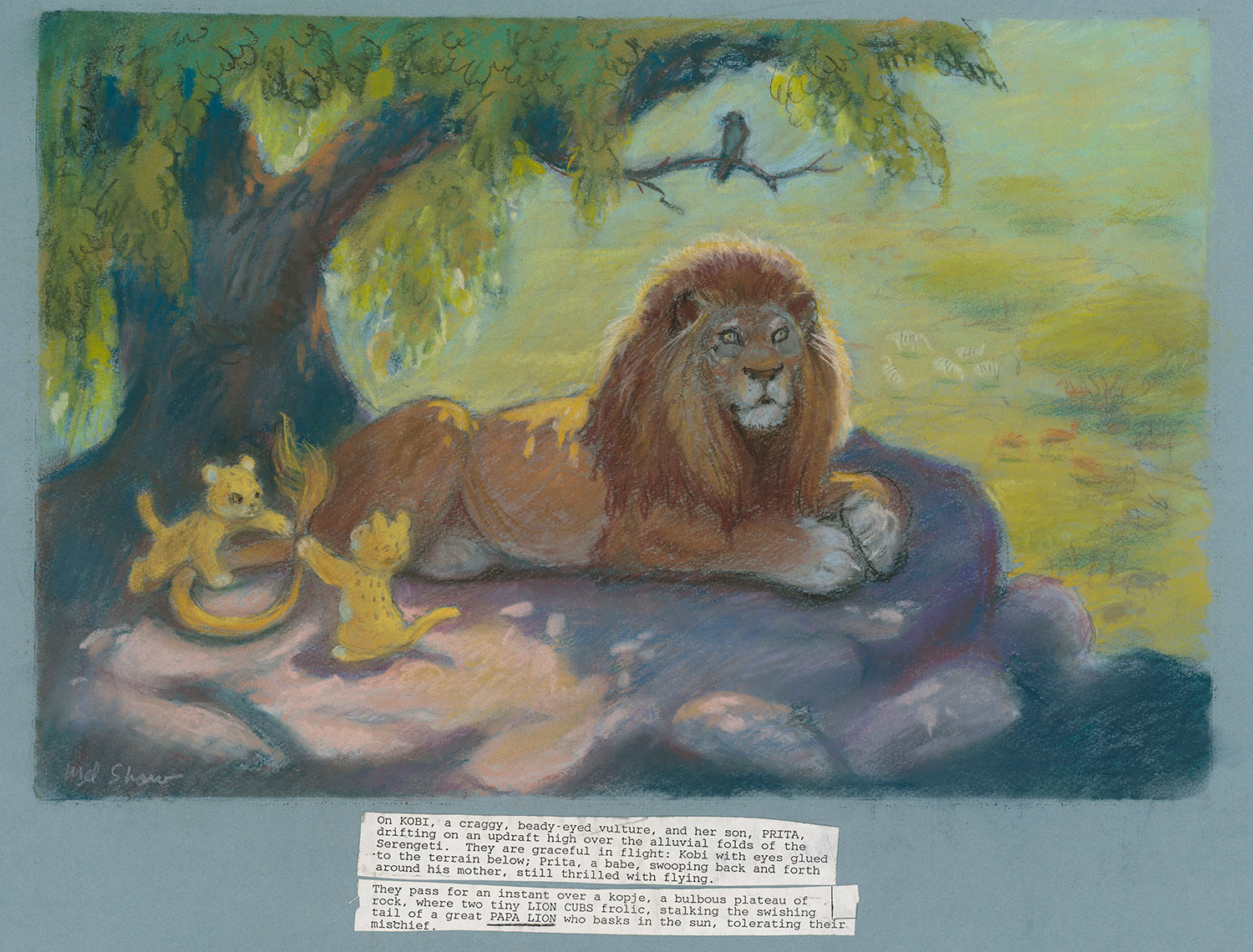 "Mel Shaw, concept art for ""The Lion King,"" c. 1992. (Image: The Walt Disney Animation Research Library, © Disney.)"