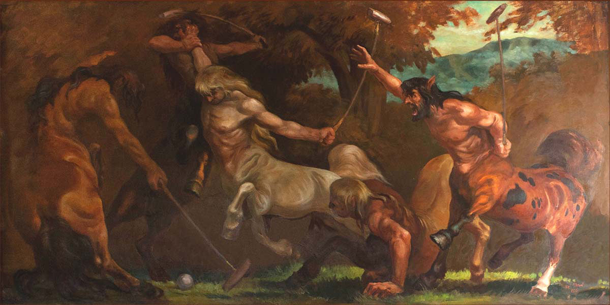 "Mel Shaw painting, ""The Centaurs."" (Image: Courtesy Rick and Janet Shaw and Melissa Couch, © Mel Shaw Studios.)"