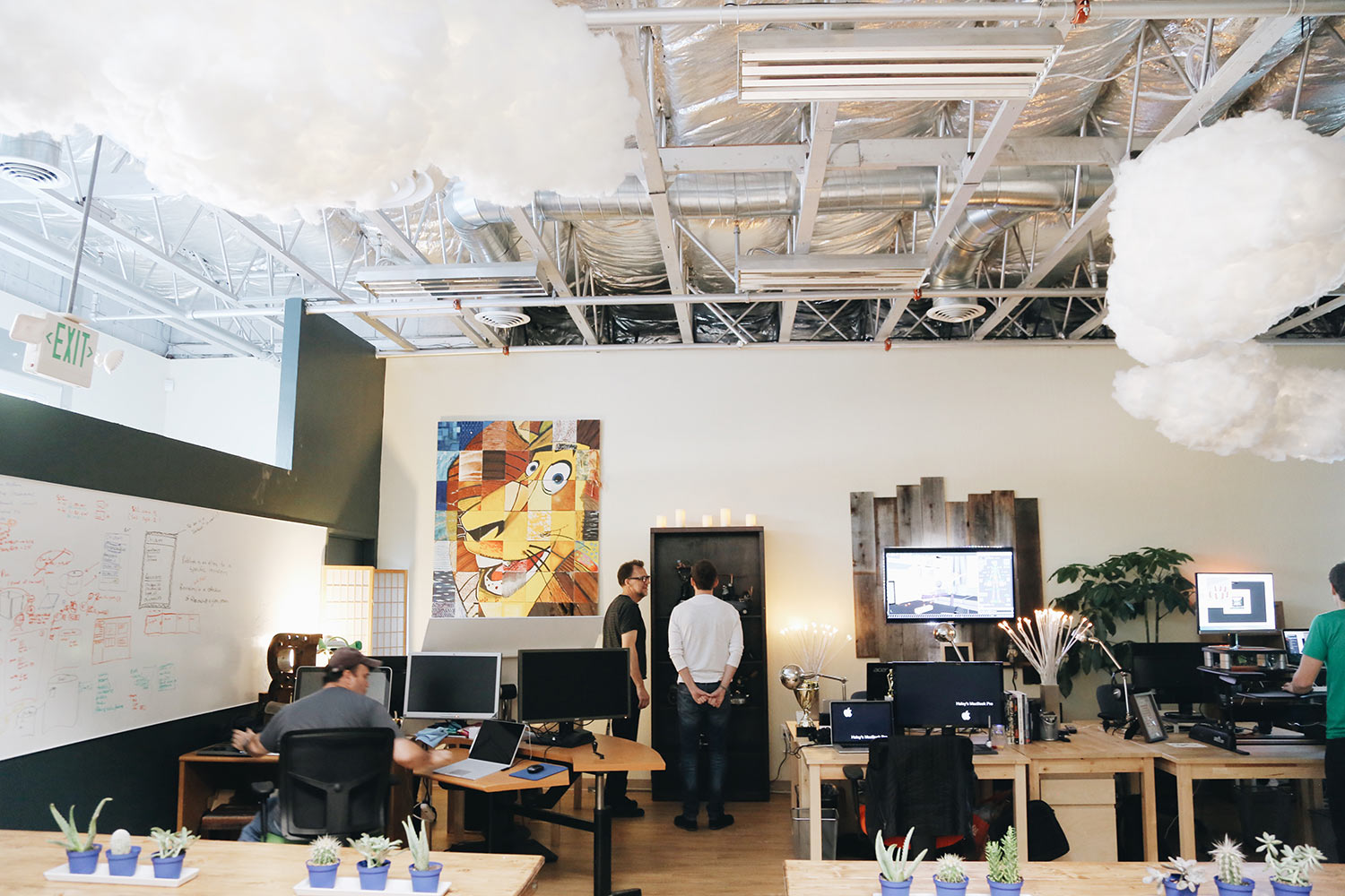A view of Nimble's space in Mountain View, California.