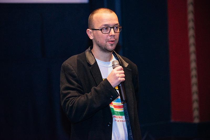 Bastien Dubois in Decmeber, 2015, at Animateka festival in Ljubljana, Slovenia. (Photo courtesy of Animateka festival.)