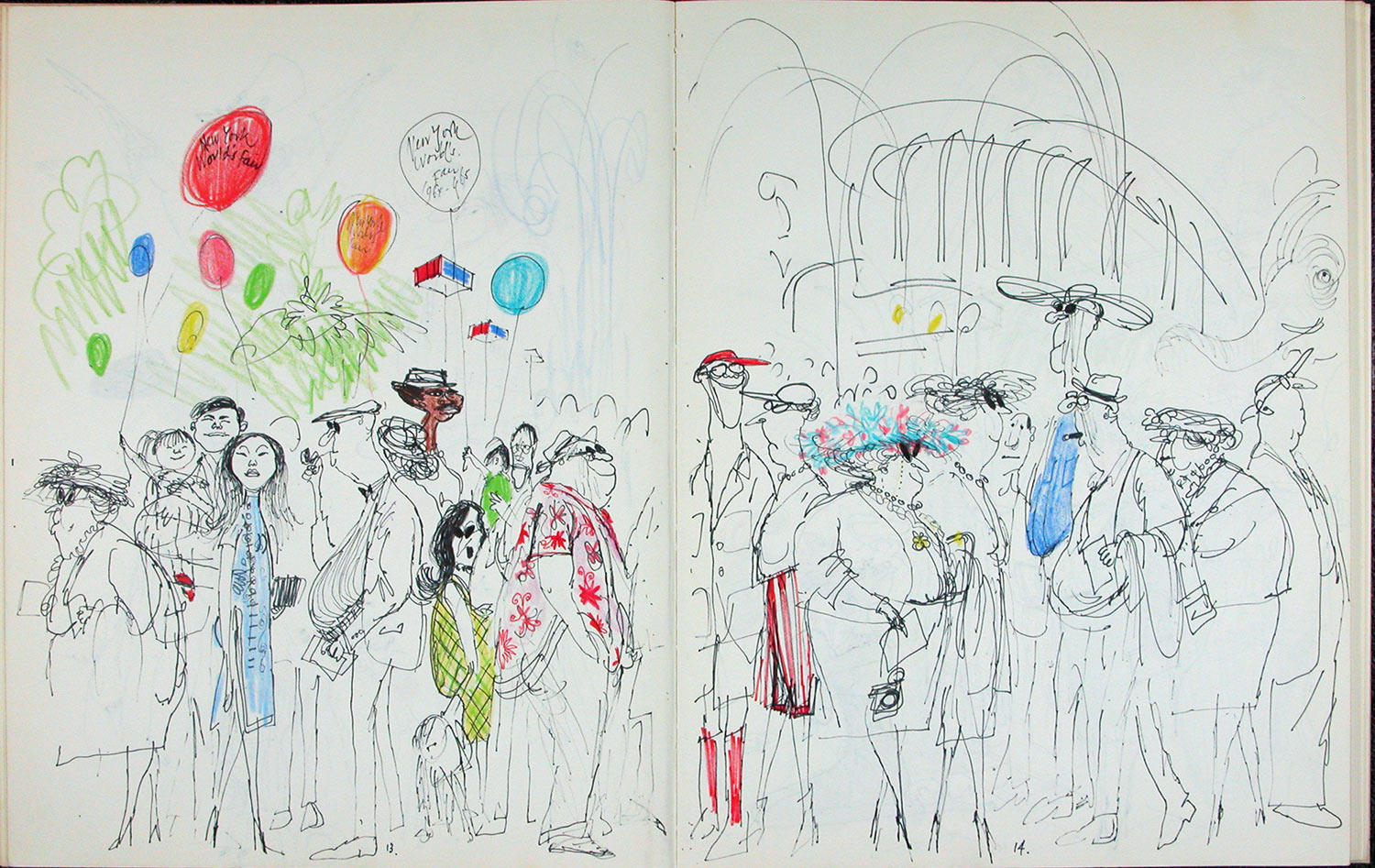Sketchbook observation by Ronald Searle.