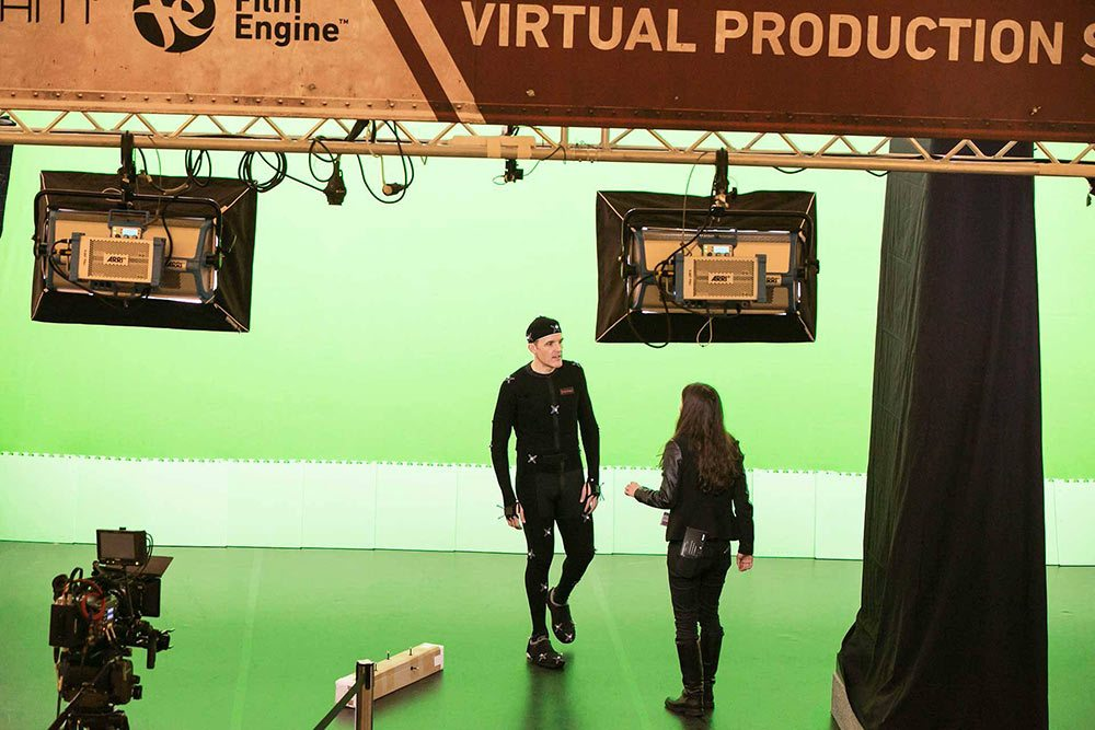 The Film Engine performance demo space at FMX.